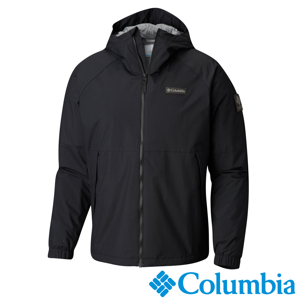 Columbia哥倫比亞 男款-Omni-Tech防水連帽外套-黑色UWM12520