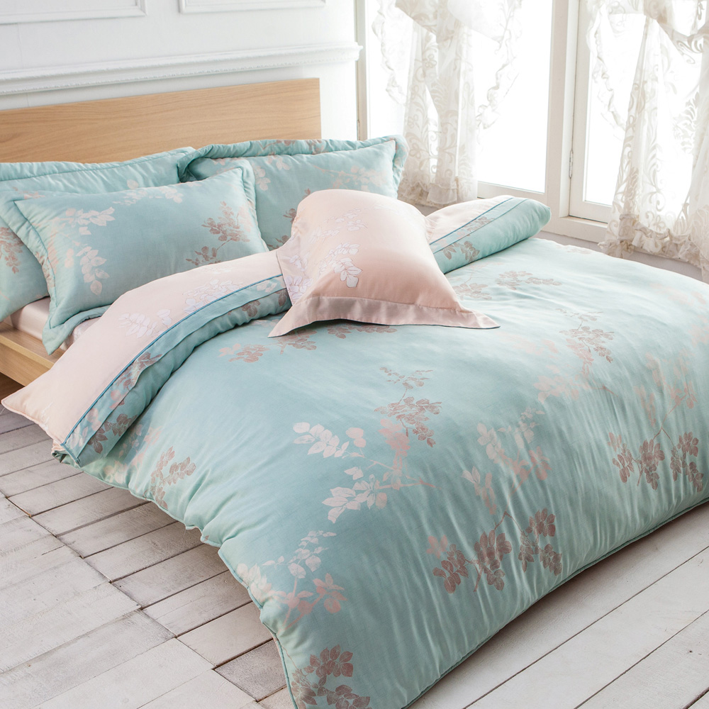 Betrise飄絮  雙人-3M專利天絲吸濕排汗四件式兩用被床包組