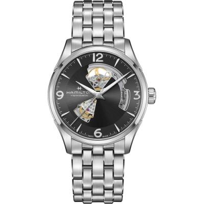 Hamilton 漢米爾頓 Open Heart 爵士開芯機械手錶-灰/42mm(H32705181)