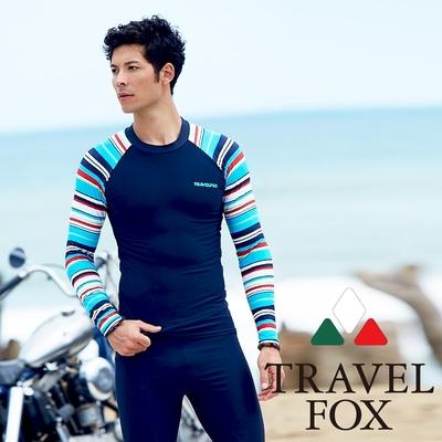 TRAVEL FOX夏之戀大男長袖衝浪上衣C17917
