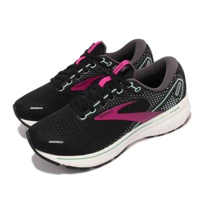 Brooks 慢跑鞋 Ghost 14 D 寬楦 女鞋 避震 穩定 慢跑 流暢 柔軟 舒適 黑 紫 1203561D013