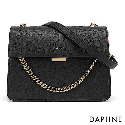 達芙妮DAPHNE-性感鍊帶簡約晚宴小方包-黑色