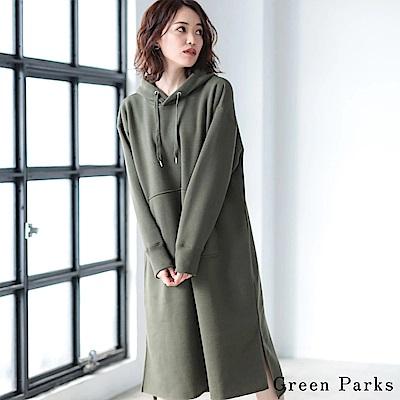 Green Parks 休閒連帽側開衩洋裝