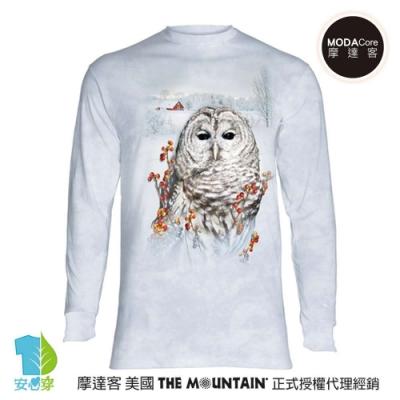 摩達客 美國進口The Mountain 秋之貓頭鷹 純棉長袖T恤