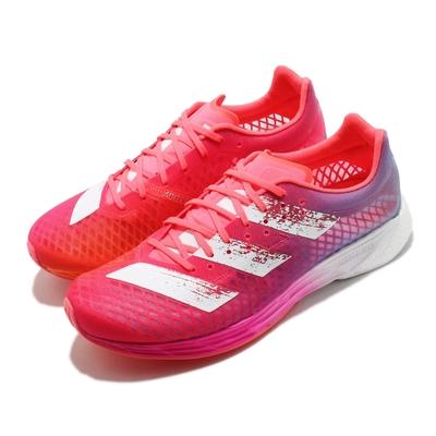 adidas 慢跑鞋 Adizero Pro W 運動 女鞋 愛迪達 輕量 透氣 舒適 避震 路跑 紅 粉 FW9255