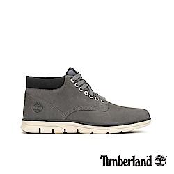 Timberland 男款中灰色絨面皮革短靴 A22M8