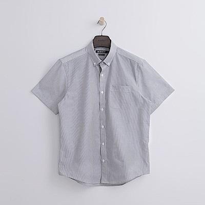 Hang Ten - 男裝 - 細紋抗皺短袖襯衫-灰色