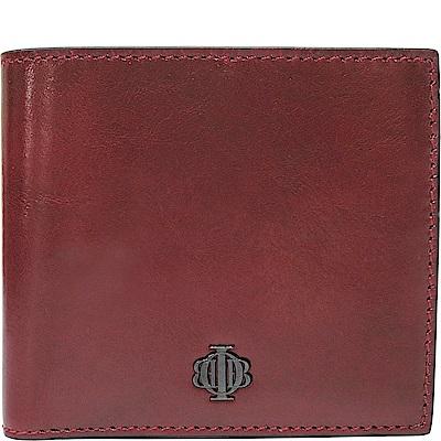 OBBI LAI 紅色牛皮短夾皮夾錢包