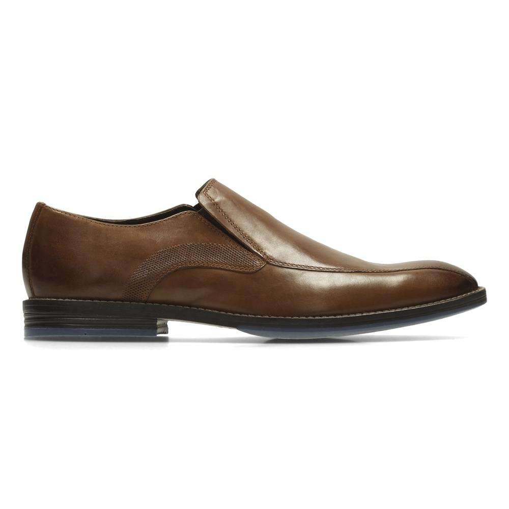 Clarks Prangley Step 男 正裝皮鞋 棕