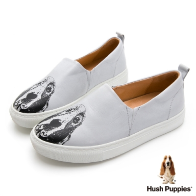 Hush Puppies 經典巴吉度大耳狗休閒鞋-灰色