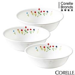 CORELLE康寧 春漾花朵3件式500ml湯碗組