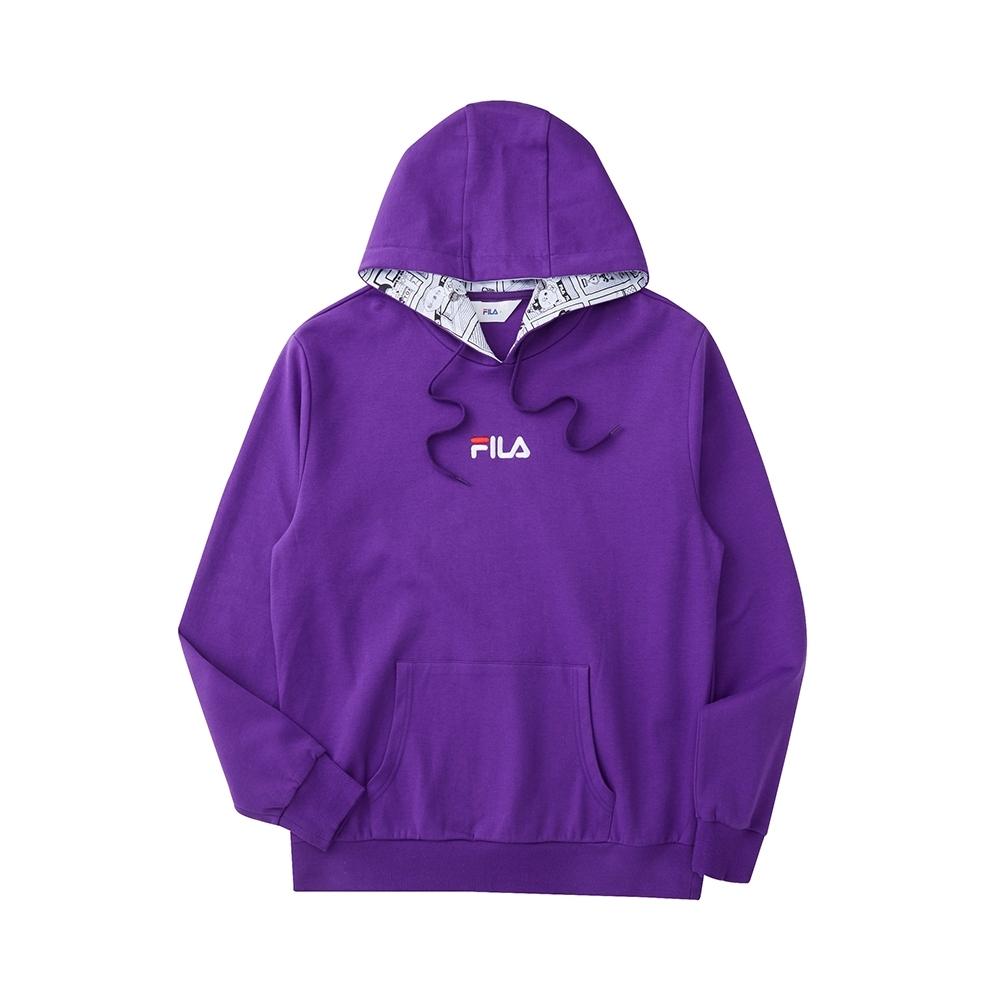FILA 長袖連帽T恤-紫色 1TEU-5507-PL