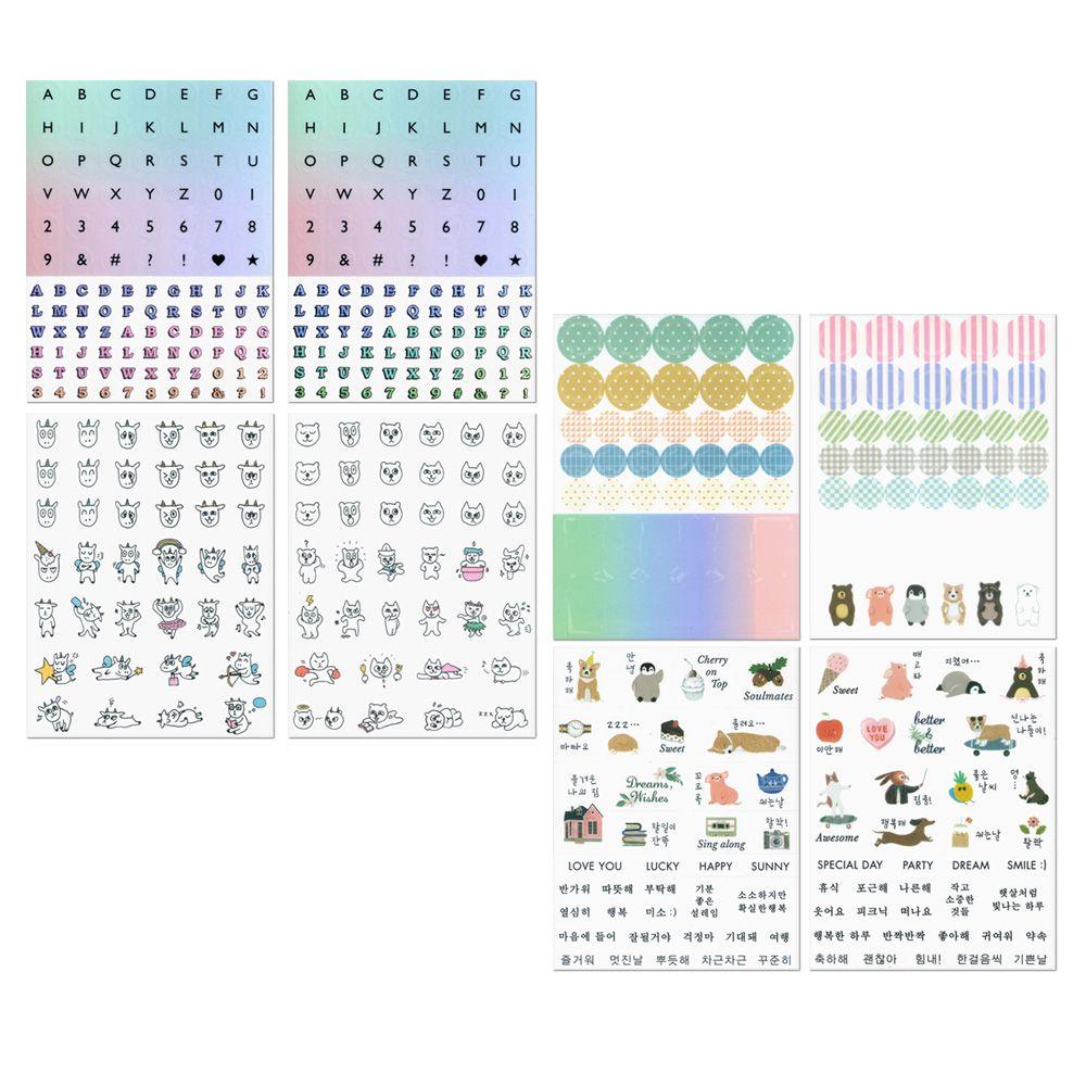 ICONIC 每一天手帳貼紙組合包-字母符號款(6款入)