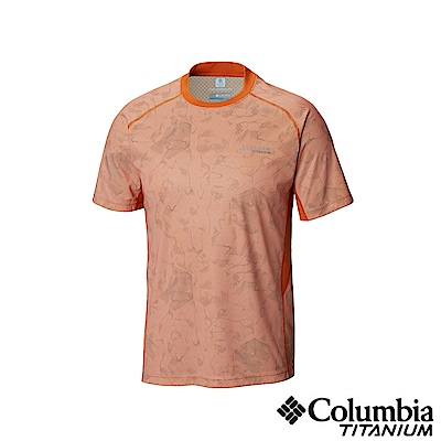 Columbia哥倫比亞男款-鈦50涼感快排抗曬短袖上衣-橘色UAE06800OG