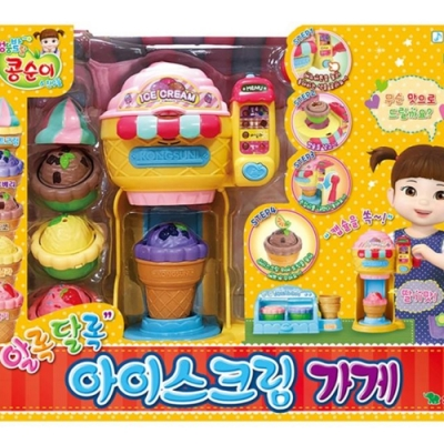 任選KONGSUNI 小荳娃娃快樂冰淇淋店 YT31049公司貨 YONUG TOYS