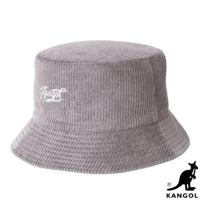 KANGOL-復古KG手寫字樣雙面漁夫帽-米色