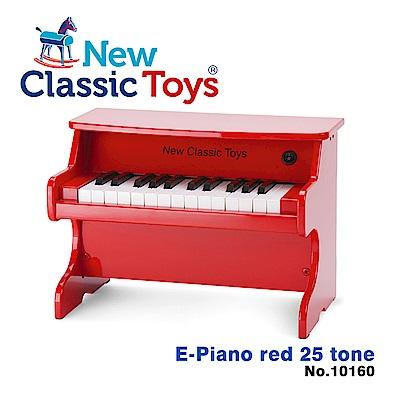 【荷蘭New Classic Toys】幼兒25鍵電子鋼琴玩具-活力紅-10160