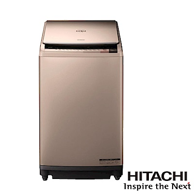 HITACHI日立家電 10公斤直立躍動式洗脫烘變頻洗衣機 香檳金SFBWD10W