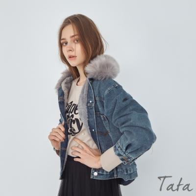 毛領可拆內絨毛牛仔外套 TATA-(S~L)