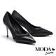 高跟鞋 MODA Luxury 輕熟時尚異材質拼接尖頭高跟鞋-黑 product thumbnail 1