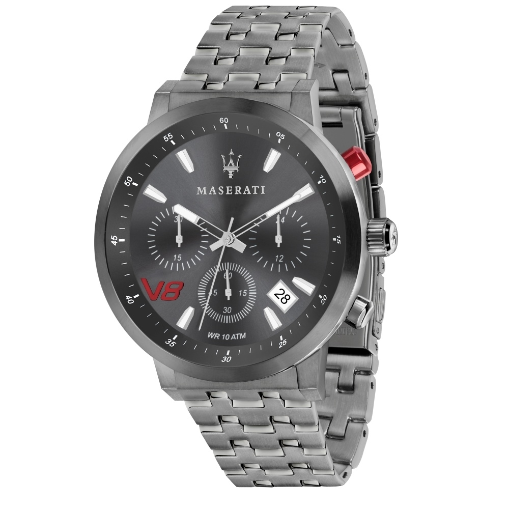 MASERATI瑪莎拉蒂 Granturismo GT系列 R8873134001/三眼計時腕錶