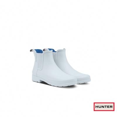 HUNTER - 女鞋 - Refined霧面切爾西踝靴 - 灰白