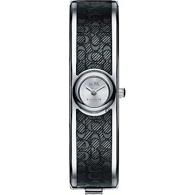 COACH Scout 經典C字時尚手環錶(14502620)-銀x黑/16mm