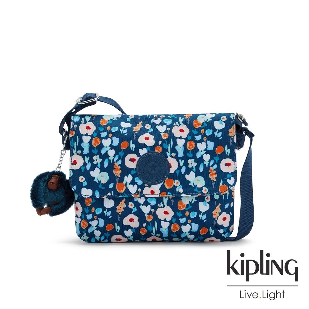 Kipling 牧場彩繪風格翻蓋雙層收納斜背包-HALSON