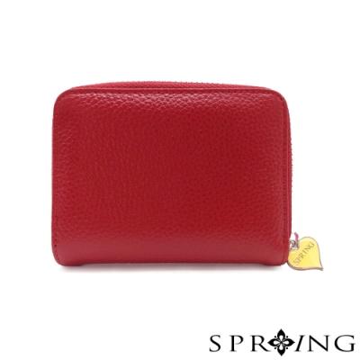 SPRING-低調的三層多用鑰匙零錢包-寶石紅