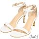 Ann'S不踩雷美腿製造機一字帶涼鞋-細帶8公分高跟-白 product thumbnail 1