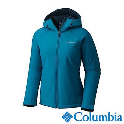 Columbia哥倫比亞 女款-防風軟殼外套-墨藍色UWL67530IB
