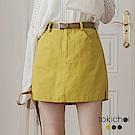 東京著衣 多色活潑俏麗剪裁拼接短裙-S.M(共三色)