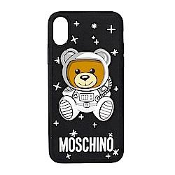 MOSCHINO 新款可愛外星太空熊 I Phone X 軟膠手機殼 (黑色)