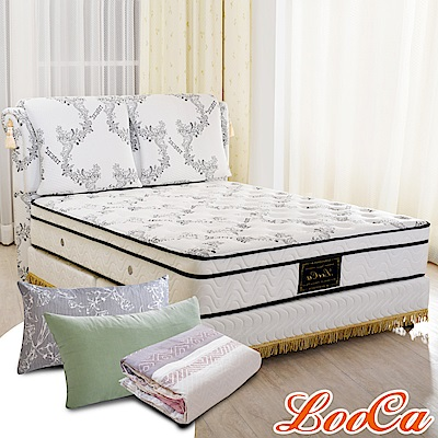 (成家組)加大6尺-LooCa皇御精品天絲獨立筒床組