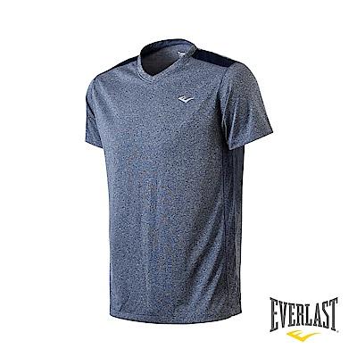 EVERLAST V領機能短袖T恤-男-麻灰藍