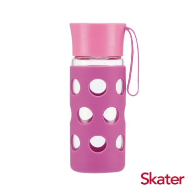 Skater玻璃隨行杯(含杯套)400ml 紫