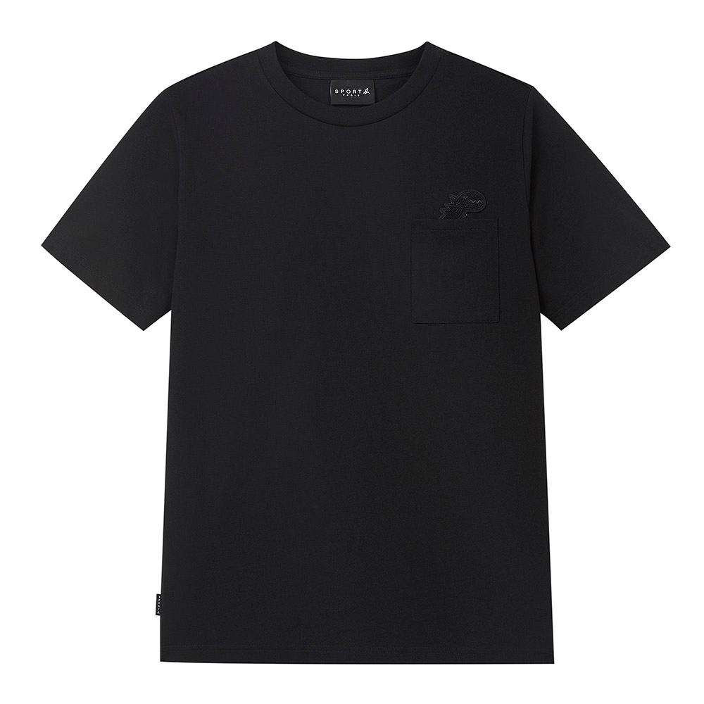 agnes b. - Sport b. 恐龍印花口袋圓領短袖上衣(男)(黑)