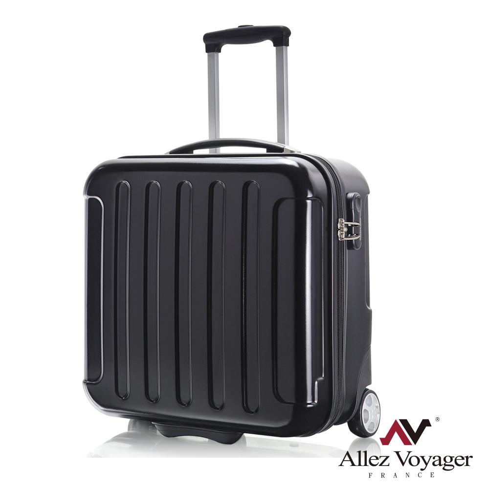 法國奧莉薇閣 18吋行李箱 登機箱 PC電腦商務旅行箱 城市新貴(黑色)