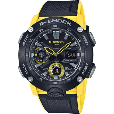 CASIO G-SHOCK 極限強悍運動錶(GA-2000-1A9)
