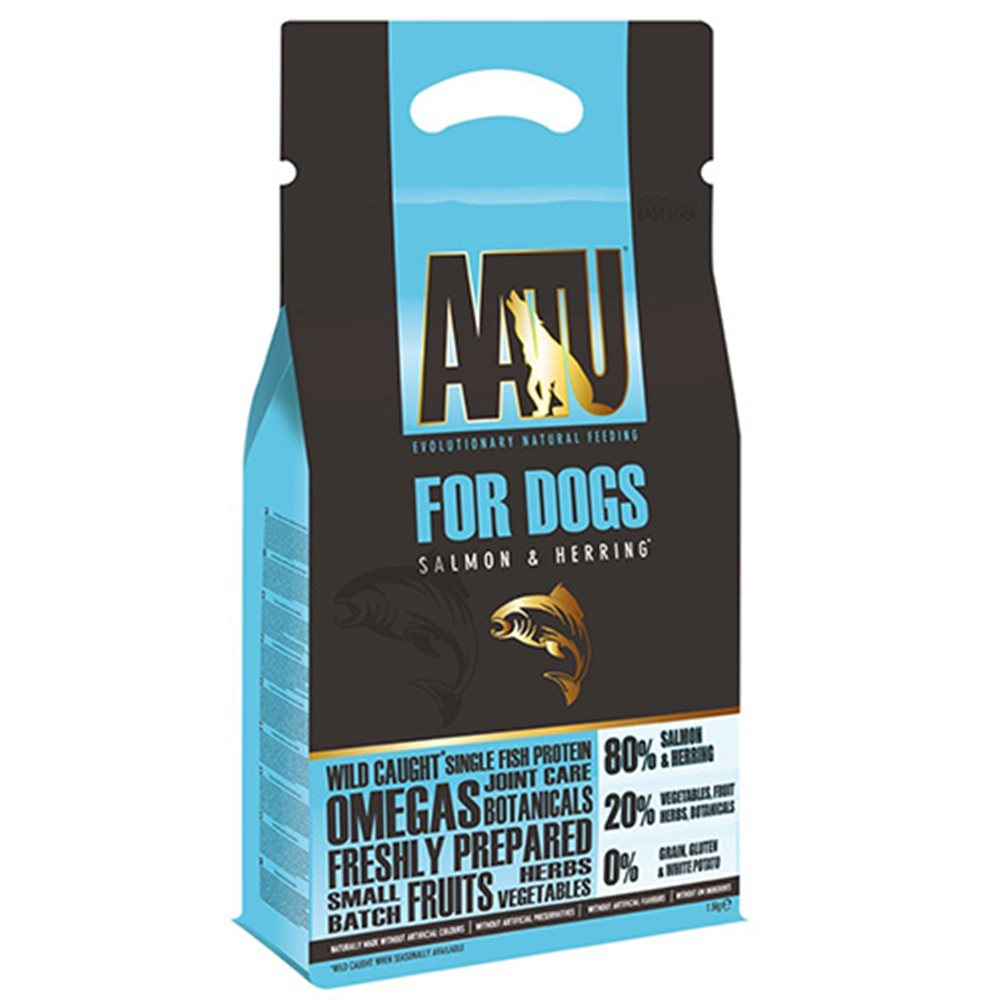 奧圖AATU超級8《嚴選鮭魚+鯡魚》低敏無穀挑嘴全齡犬糧 1.5KG