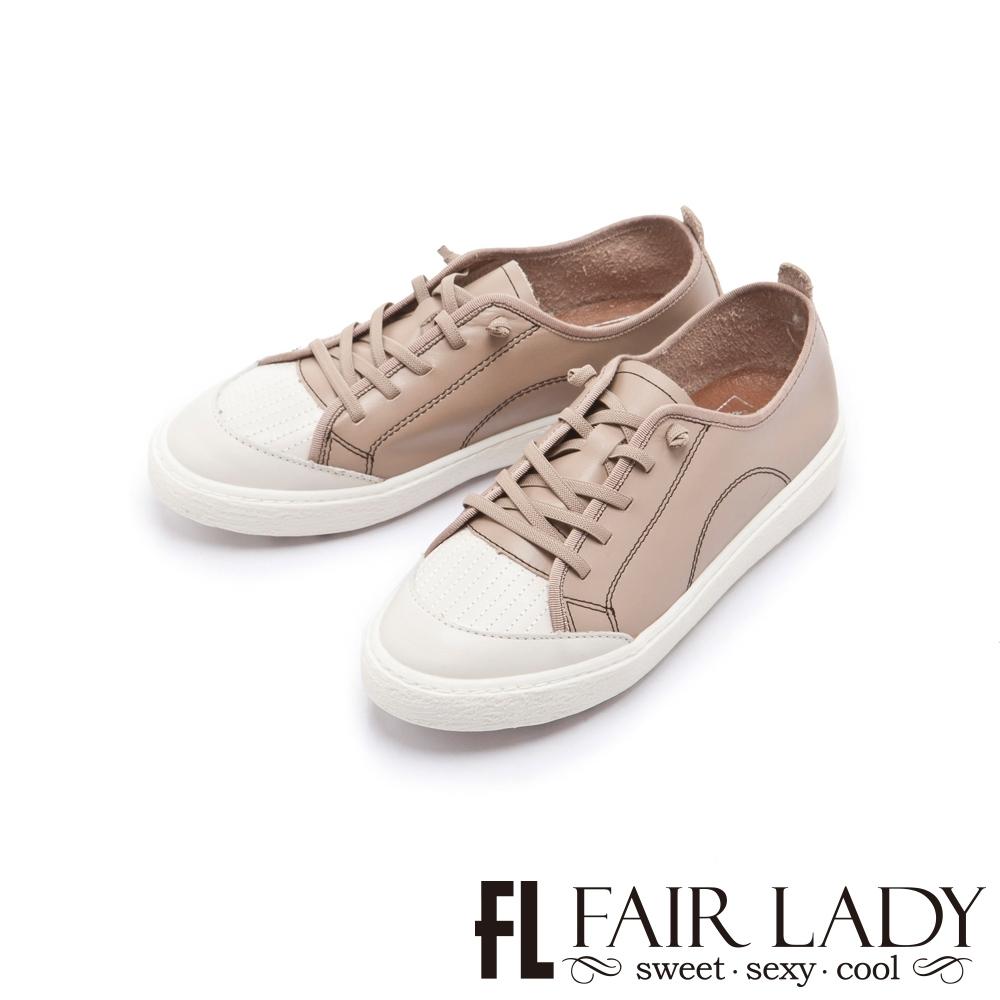 FAIR LADY Soft Power軟實力焦糖厚底休閒鞋 可可棕