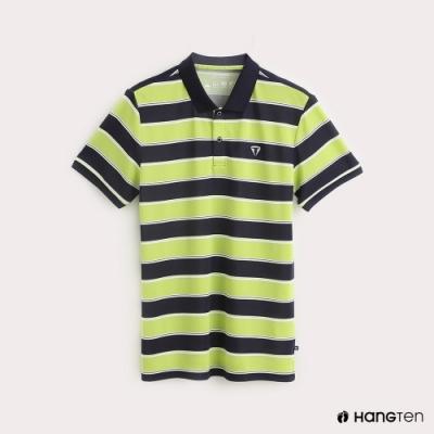 Hang Ten-ThermoContro-男裝經典配色機能POLO衫-綠