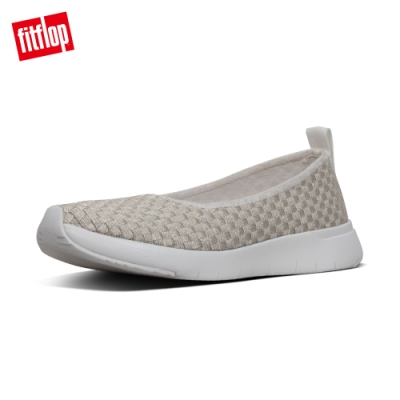 FitFlop STRIPKNIT SLIP-ON BALLARINAS 白
