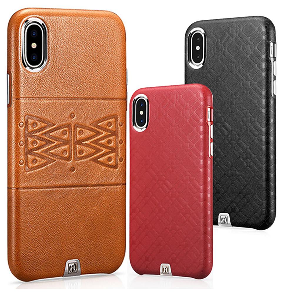iStyle iPhoneX/XS 幾何牛皮手機殼 @ Y!購物