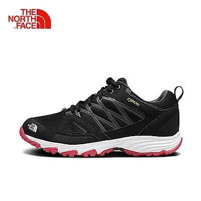 The North Face北面女款黑色抓地防水徒步鞋