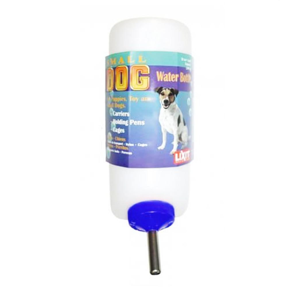 金德恩 美國製造 LIXIT 45度出水鋼管設計 中小型犬飲水瓶 480cc/附彈簧掛繩