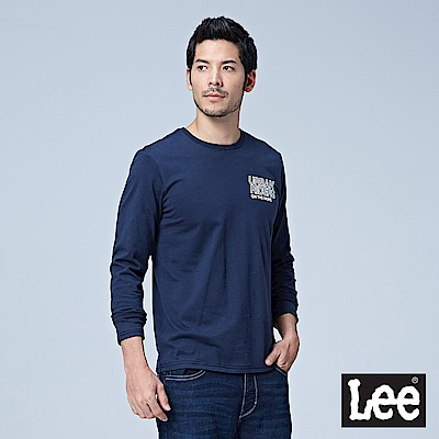 Lee LEE 編織LOGO長袖圓領Tee