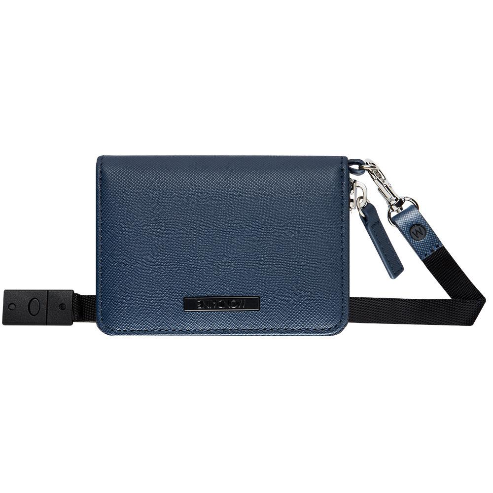 MONDAINE 瑞士國鐵頸掛兩用牛皮零錢包-藍 @ Y!購物