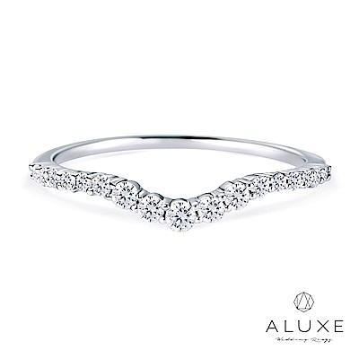 ALUXE 亞立詩 18K金V型鑽石線戒