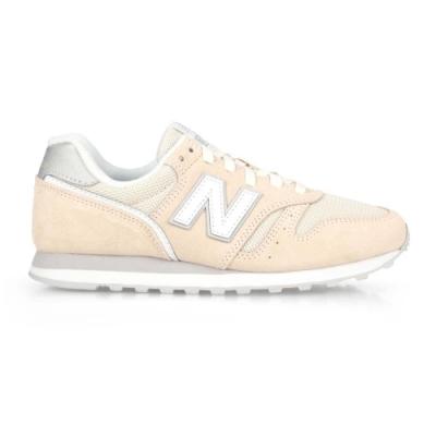 NEWBALANCE 女復古慢跑鞋-麂皮 373系列 NB N字鞋 標準楦 WL373AB2 米黃白銀